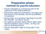 preparation phase methods for psycho education