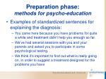 preparation phase methods for psycho education63