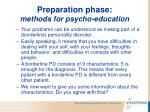 preparation phase methods for psycho education64