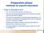 preparation phase methods for psycho education65
