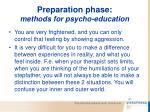 preparation phase methods for psycho education68