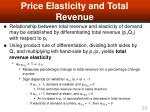 price elasticity and total revenue1