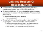 unit free measure of responsiveness