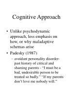 cognitive approach30