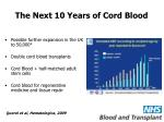 the next 10 years of cord blood