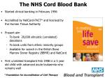 the nhs cord blood bank