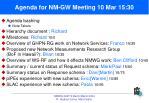 agenda for nm gw meeting 10 mar 15 301