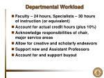 departmental workload