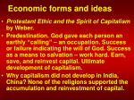 economic forms and ideas