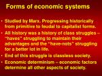 forms of economic systems