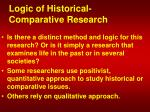 logic of historical comparative research