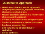 quantitative approach
