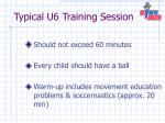 typical u6 training session