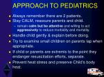 approach to pediatrics