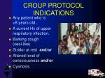 croup protocol indications
