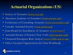 actuarial organizations us