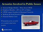 actuaries involved in public issues