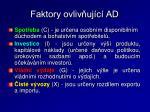 faktory ovliv uj c ad