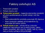 faktory ovliv uj c as
