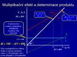 multiplika n efekt a determinace produktu