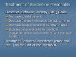 treatment of borderline personality