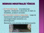 residuos industriales t xicos