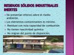 residuos s lidos industriales inertes
