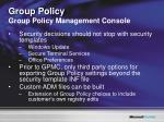 group policy group policy management console