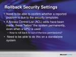 rollback security settings