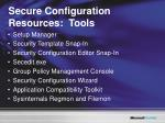 secure configuration resources tools
