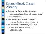 dramatic erratic cluster annoying