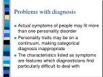 problems with diagnosis