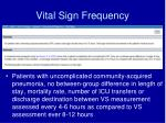 vital sign frequency