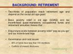 background retirement
