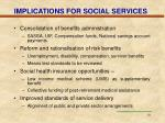 implications for social services