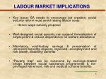 labour market implications