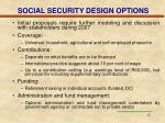social security design options