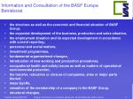 information and consultation of the basf europa betriebsrat