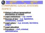 comparing legal systems topics