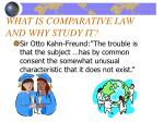 what is comparative law and why study it