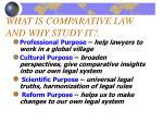 what is comparative law and why study it1