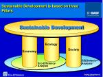 sustainable development is based on three pillars