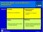 what does basf use eco efficiency analysis for