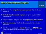 what is eco efficiency analysis