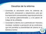 desaf os de la reforma