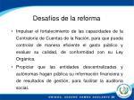 desaf os de la reforma1