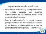 implementaci n de la reforma