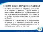 reforma legal sistema de contabilidad