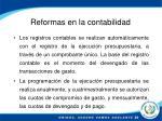 reformas en la contabilidad