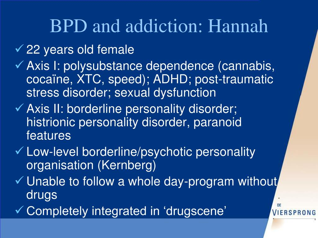 BPD and addiction: Hannah
